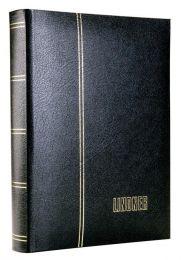 Lindner 1185 Lederen insteekalbum groot formaat 60 blz zwart , kleur zwart