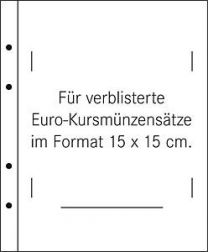 Lindner 1392 helder 10x Muntsets in blisterverpakking