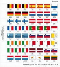 Lindner 15 Vlaggenblad EURO 15x