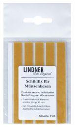 Lindner 2188 zelfklevende tekstkaarthouders 5 stuks