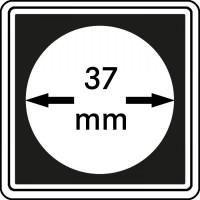 Lindner 2240037 muntcapsule CARREE 37 mm 4 stuks