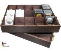 Lindner 2245 Houten Box voor munthouders, Carrée en Octos