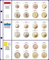 Lindner 8450-13 voordrukblad + muntenblad Monaco, San Marino en Vatikaan