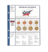 Lindner 8450-16 voordrukblad + muntenblad 3 series munten van Slovenie