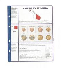 Lindner 8450-17 voordrukblad + muntenblad 3 series munten van Malta