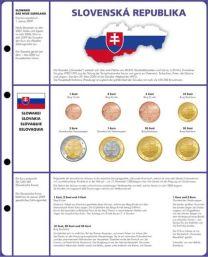 Lindner 8450-19 voordrukblad + muntenblad 3 series munten van Slowakije