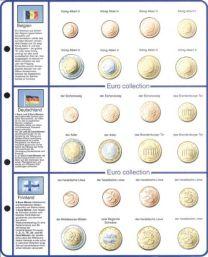 Lindner 8450-1 voordrukblad + muntenblad Belgie, Finland en Duitsland
