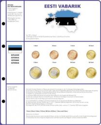 Lindner 8450-20 voordrukblad + muntenblad 3 series munten van Estland