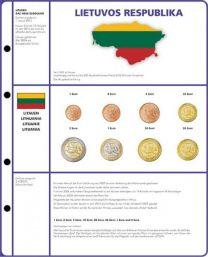 Lindner 8450-22 voordrukblad + muntenblad 3 series munten van Litouwen