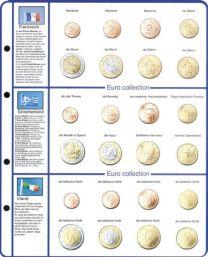 Lindner 8450-4 voordrukblad + muntenblad Frankrijk, Griekenland en Ierland