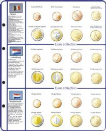 Lindner 8450-7 voordrukblad + muntenblad Italie, Luxemburg en Nederland