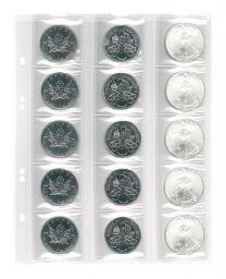 Lindner MU15R muntenblad 15 vaks incl. rode tussenbladen 5x