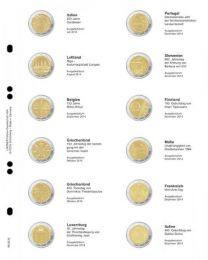 Lindner MU2E12 Multi Collect voordrukblad voor 2 Euro herdenkingsmunten Italie 2014