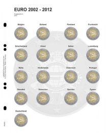 Lindner MU2E8 Multi Collect voordrukblad voor 2 Euro herdenkingsmunten 10 jaar euro