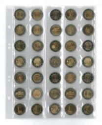 Lindner MU35 muntenblad 35 vaks incl. zwarte tussenbladen 5x