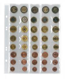 Lindner MU40 muntenblad 40 vaks incl. zwarte tussenbladen 5x