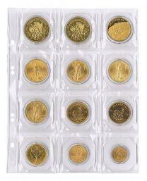 Lindner MU 12R muntenblad 12 vaks incl. rode tussenbladen 5x