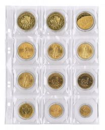 Lindner MU 12 muntenblad 12 vaks incl. zwarte tussenbladen 5x