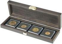 Lindner S2490-4 Houten cassette CARUS S met 4 vierkanten vakken
