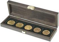 Lindner S2490-5 Houten cassette CARUS S met 5 vierkanten vakken