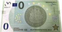 Muntmanifestatie 2019 0 euro bankbiljet