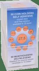 WL Munthouders zelfklevend 22,5 mm 50 stuks