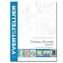 Yvert Europa deel 5 2016 de SAINT-MARIN à YOUGOSLAVIE