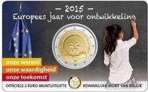 2 Euro Belgie 2015 Europees jaar voor ontwikkeling in coincard.