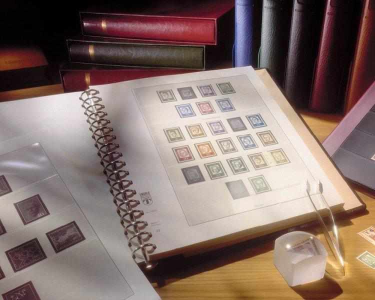 Lindner voordrukbladen en teksten voor postzegels