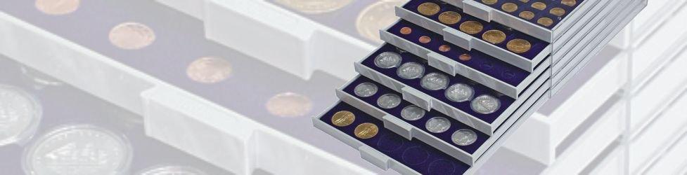 LINDNER muntladen en muntenboxen
